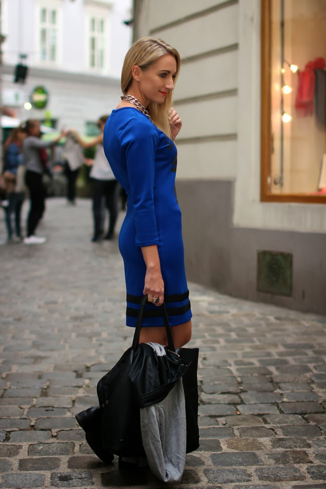 dress, jacket - Forever 21 / jacket - boots, bag - Humanic / necklaces - D&G, H&M / watch - no name / bracelets - Ti Sento, H&M / ring - Thomas Sabo collected by Katja / Austrian fashion blog / Modeblog Österreich