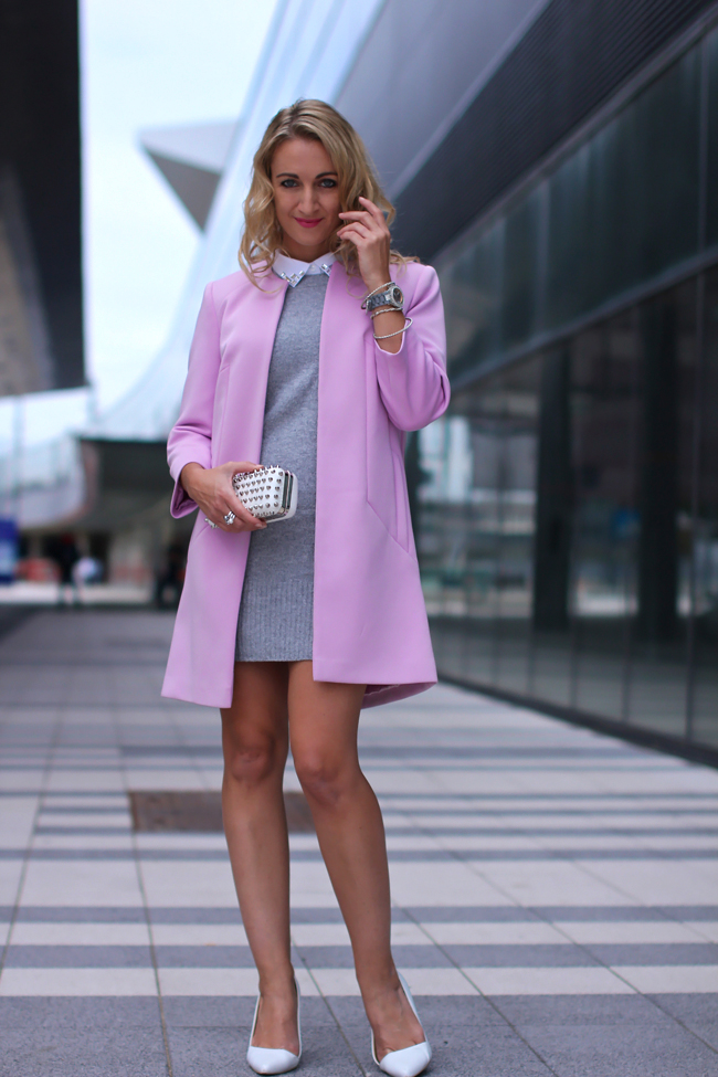dress - Peek&Cloppenburg - blouse - H&M / coat - Primark / shoes - Buffalo / clutch - Forever21 / watch - no name / rings - Ti Sento / bracelets - Ti Sento, H&M