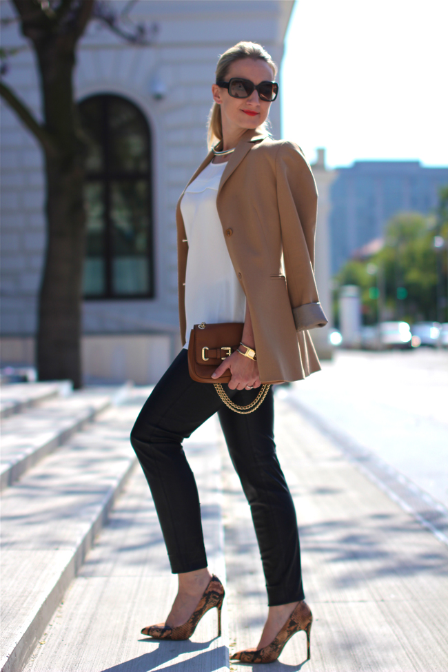 Black Pants, White Blouse  Blazer - Collected By Katja Lifestyle Blog For Women Not -1342
