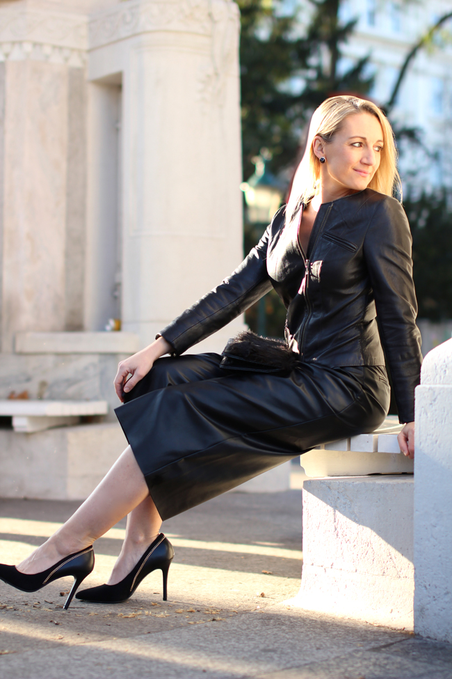 how to wear leather culottes