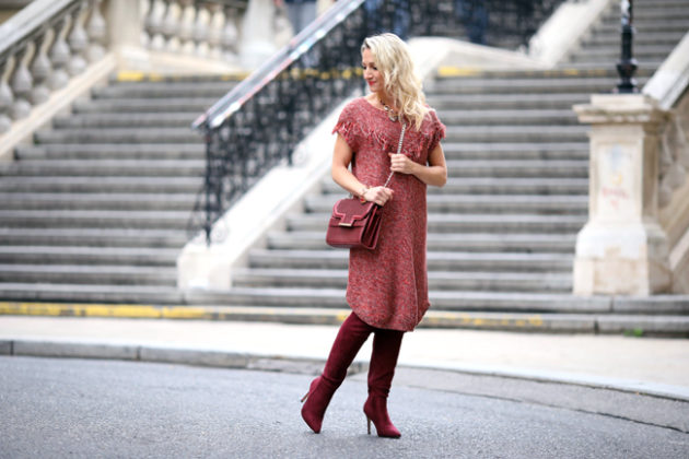 Shades of red: Outfit in Bordeaux, Koralle & Weinrot. - collected by ...