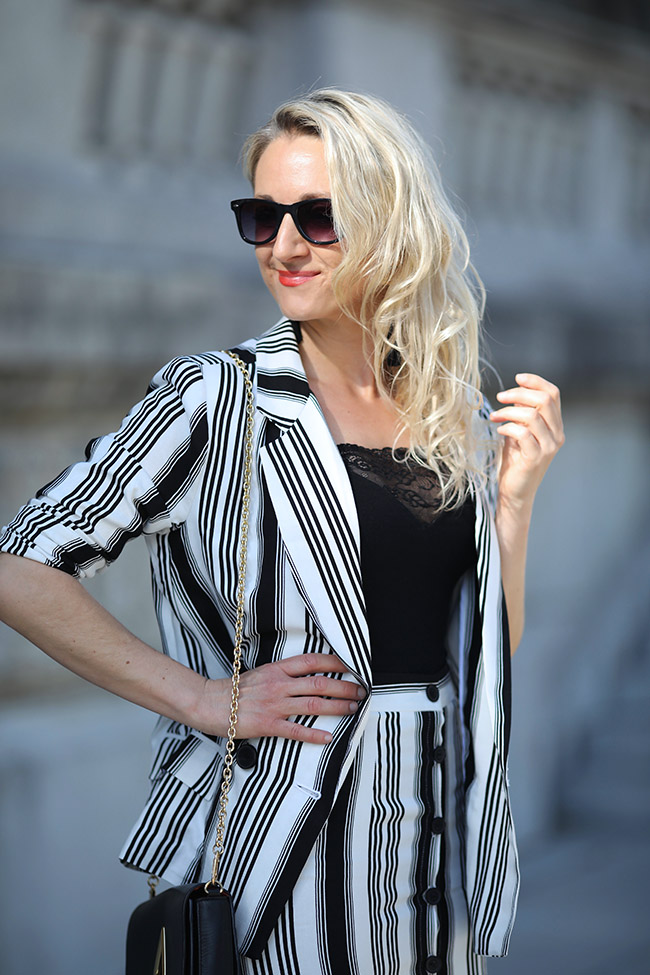 collected by Katja, Modetrends Frühling/Sommer 2018, Maxirock, Oversized Blazer, schwarz weiß Outfit, Fashionblog Österrecich