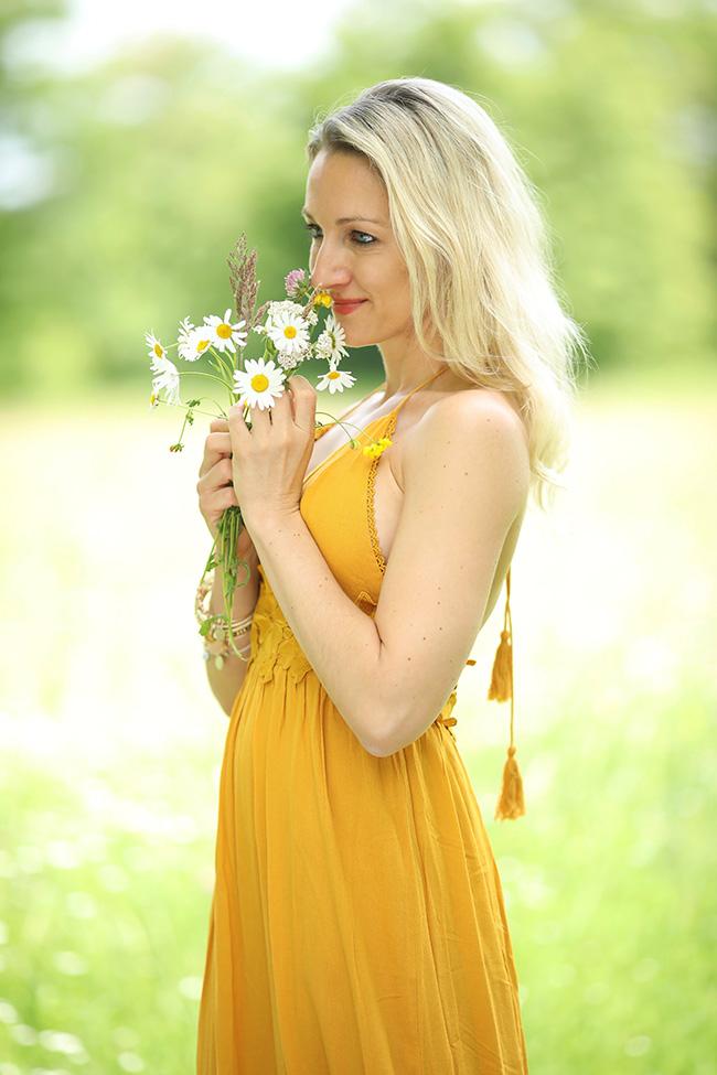 Maxikleid, Styling, Sommer, Boho Look, Hippie Kleid, collected by Katja, Ü40 Blog, Modeblog