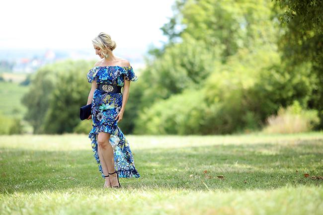 Sommerhochzeit, Outfit Hochzeitsgäste, Styling Hochzeit, Sommerkleid, Sommerhochzeit Kleid, Boho Kleid, Maxikleid, Off shoulder Kleid, Boho Style, collected by Katja, Ü40 Blog