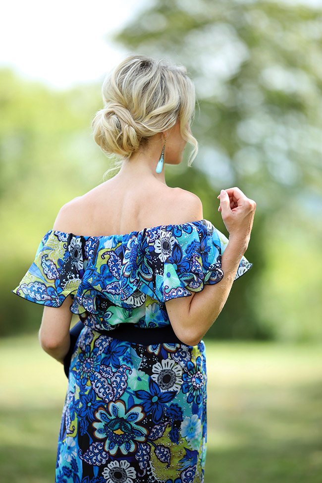 Sommerhochzeit, Outfit Hochzeitsgäste, Styling Hochzeit, Sommerkleid, Sommerhochzeit Kleid, Boho Kleid, Maxikleid, Off shoulder Kleid, Boho Style, collected by Katja, Ü40 Blog