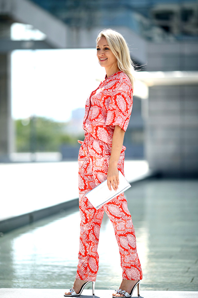 Pyjama Suit, Pyjama Anzug, Hosenanzug modern, Mango H/W 2018, Herbsttrends 2018, Ü40 Blog, collected by Katja